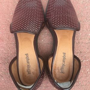 Jeffrey Campbell 9.5 burgundy loafers